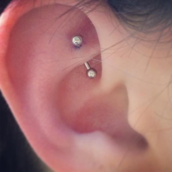 piercing cartilago bolita