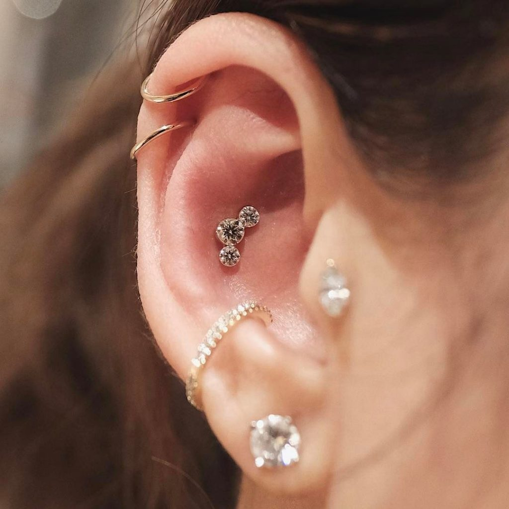 conch piercing at home