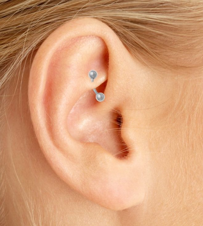 piercing helix at home
