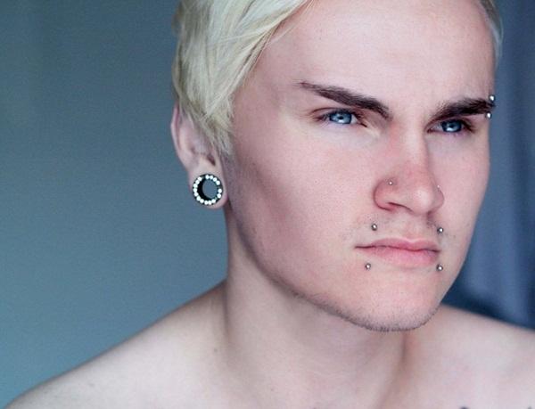 piercing labio hombre