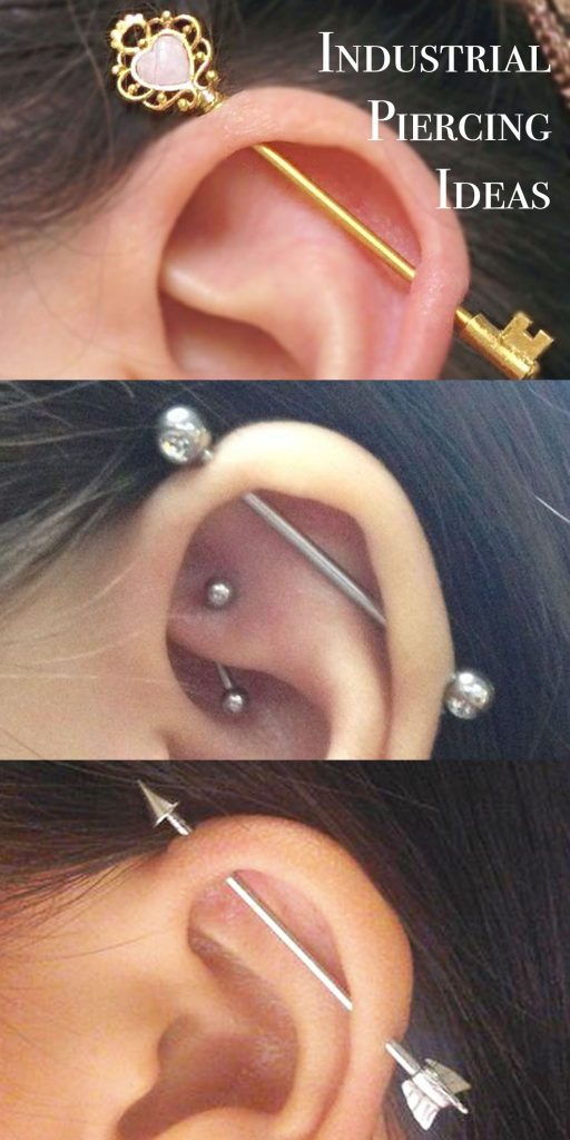 barbell in a piercing