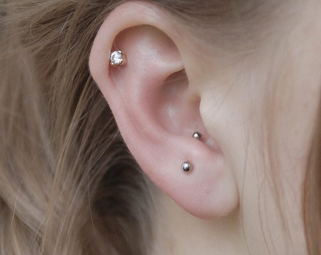 anti tragus and daith piercing