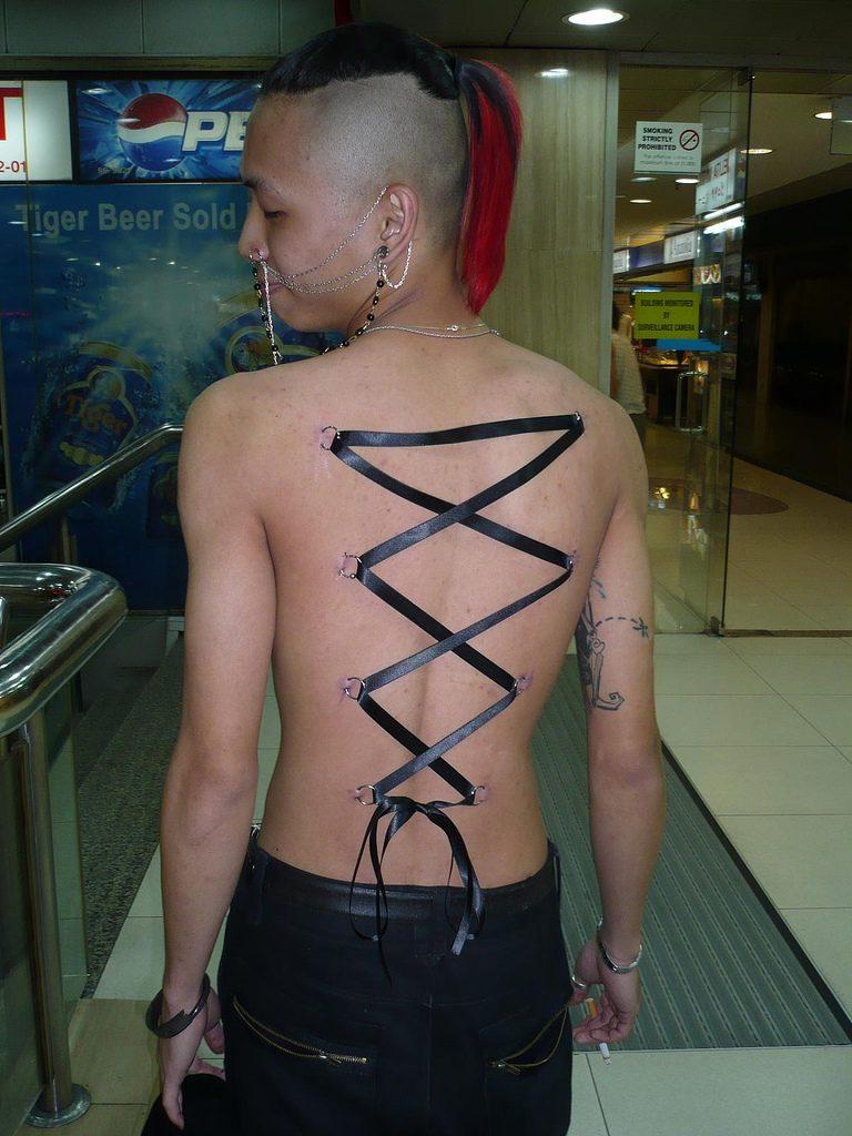 piercing corset neck